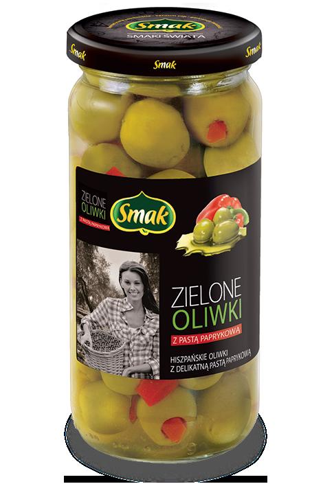 Zielone oliwki z pastą paprykową