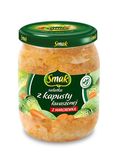 Sałatka z kapusty kwaszonej z marchewką