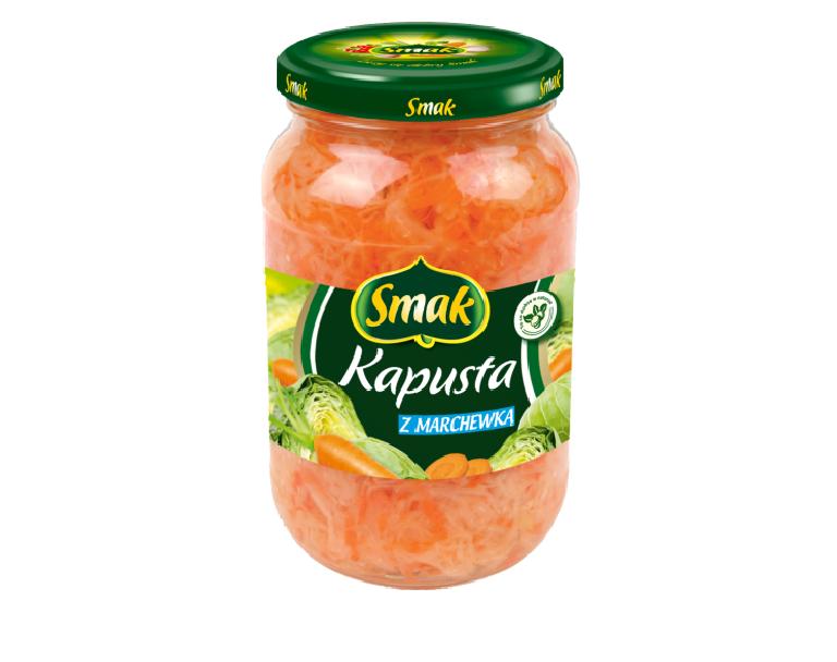 Kapusta kwaszona z marchewką
