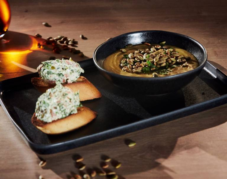 Zupa krem z ciecierzycy z pestkami dyni